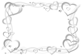 Herzen silbern Rahmen