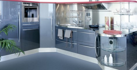 gray silver kitchenw modern interior design house
