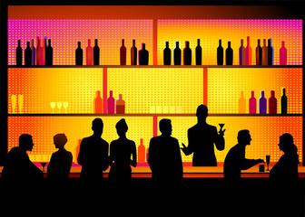 Bar mit Barkeeper