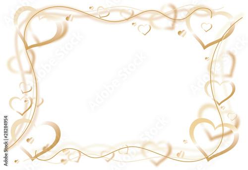 Gamesageddon Herzen Golden Rahmen Lizenzfreie Fotos Vektoren