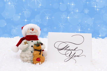 Thankful Snowman