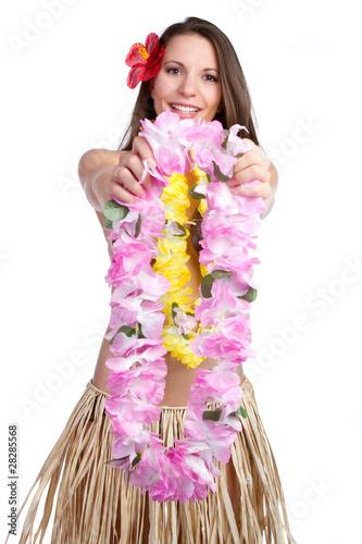 Tropical Lei Girl