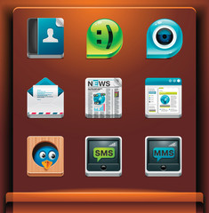Communication. Mobile devices apps/services icons. Part 2 of 12