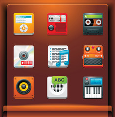 Multimedia. Mobile devices apps/services icons. Part 5 of 12