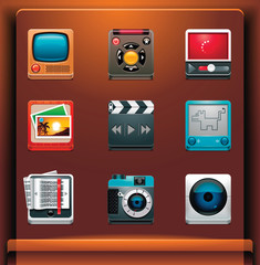 Multimedia. Mobile devices apps/services icons. Part 6 of 12