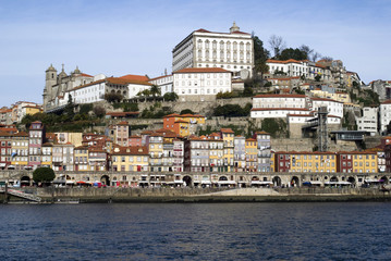 View over Ribeira - the old town of Porto, Portugal