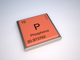 Phosphorus chemical element of the periodic table with symbol P poster