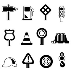 traffic icon set vector
