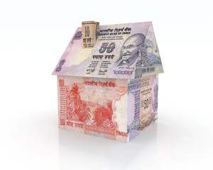 house rupee banknotes