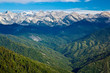 Leinwanddruck Bild - Views from Moro Rock in Sequoia National Park, California