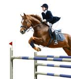 Equestrian jumper poster