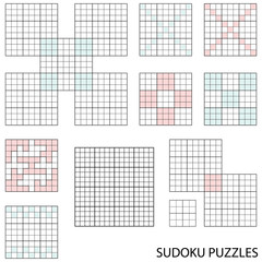 Collection of various blank sudoku templates