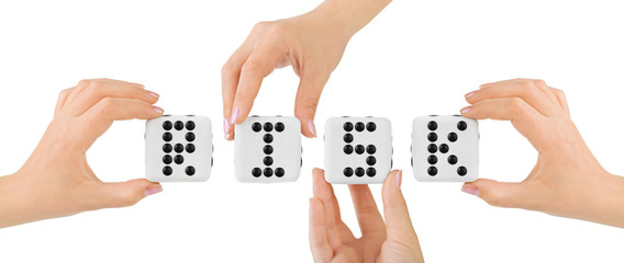 Hands and dices Risk