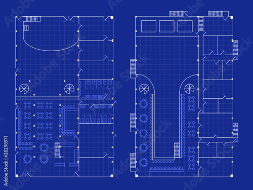 Simple Nightclub Blueprint By Daevid Royalty Free Vectors