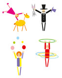 vector circus people isolated