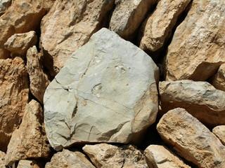 Werbefläche aus Stein