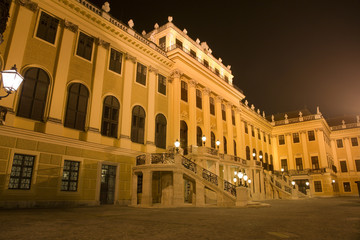 Vienna - Schonbrunn palace in the night