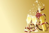 Fototapety Champagne Auguri Sfondo-Champagne Background-Vector