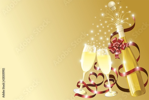 Champagne Auguri Sfondo-Champagne Background-Vector
