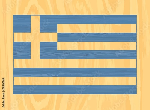 Greek wooden flag