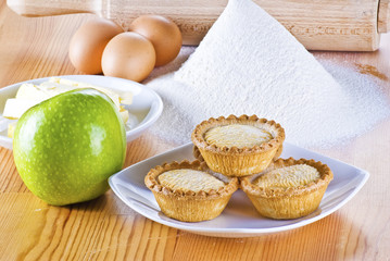 Freshly baked apple pies
