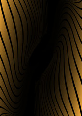 Orange lined vector tunnel