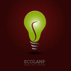 Logo energy efficient light bulb (vector )