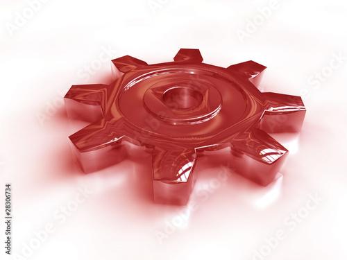 Chrom Zahnrad rot