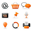 Iconset Web orange