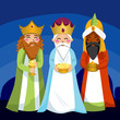 Three Wise Men bring gifts to Jesus on Christmas - 28308110