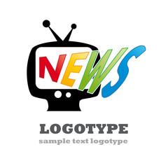 Logo news in tv # vector