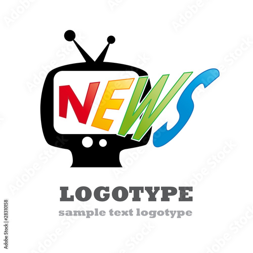 Logo news in tv # vector