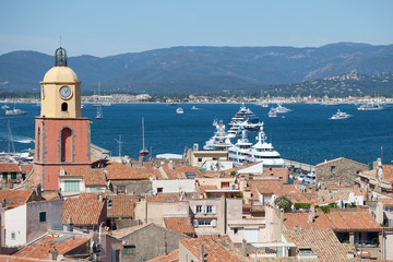 Saint-Tropez,close view on the city and harbor