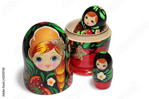 Red matryoshka - Russian Nesting Doll
