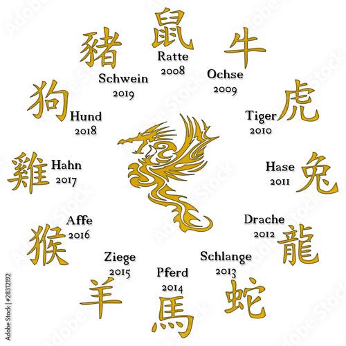 chinesisches horoskop stockfotos und lizenzfreie bilder. Black Bedroom Furniture Sets. Home Design Ideas