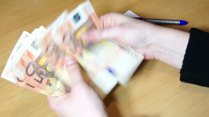Geld zählen