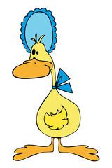 Duck with Blue Bonnet.