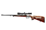 hunting rifle with scope isolated poster