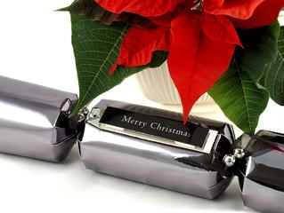 Poinsettia and Merry Christmas Cracker