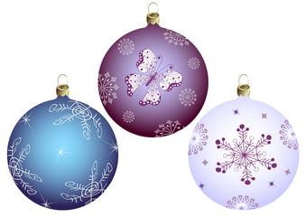 Set Christmas`s balls