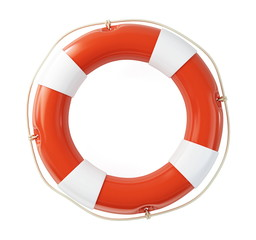 Life Buoy on a white background