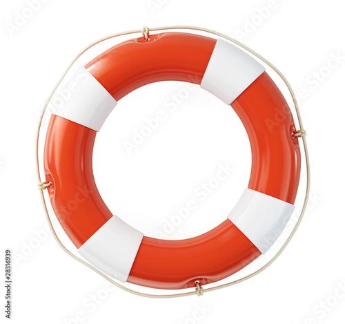 Life Buoy on a white background - 28316939