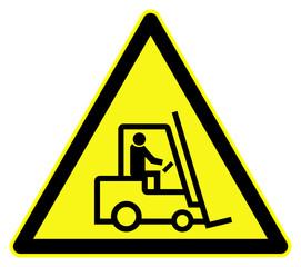 Fork lift trucks warning