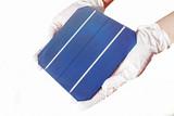 Monocrystalline silicon solar cell poster