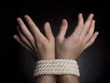 Hands with a rope