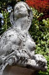 Harpy statue in Scherrer park