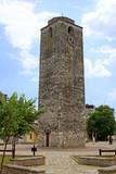 Sahat Kula, an Ottoman clock tower in Podgorica, Montenegro poster