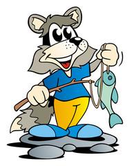 Fishing Racoon