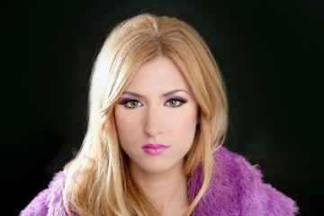 barbie blonde beautiful woman portrait pink fashion