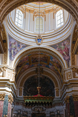 The picture from the inside of Mdina cathedral.  Malta
